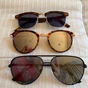 3 pair sunglasses 🕶- quay balk aviators